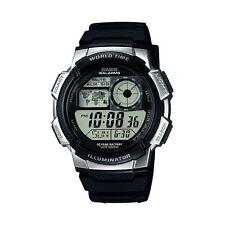 Casio Para hombres Reloj de Combi digital con 5 Alarmas & Esfera Blanca-Pulsera De Resina Negra