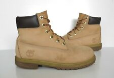 Ladies/Girls TIMBERLAND Brown leather lace-up ankle Boots Size 3 Good Cond