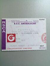 Ticket Football Anderlecht  - Standard 1991
