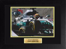 Lewis Hamilton Mercedes F1 12x8 pantalla Firmado Foto Enmarcada B cert. de autenticidad