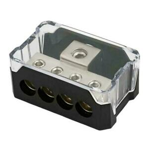 Platinum Series 1/0 Gauge In to 4 Gauge Out Power Distribution USA Block C Fast
