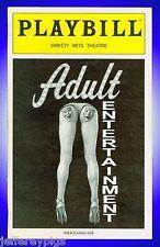 Playbill + Adult Entertainment + Danny Aiello , Jeannie Berlin , Mary Birdsong