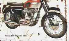 Triumph T120 Bonneville 1966 Aged Vintage Photo Print A4 Retro poster