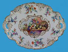 prachtvoll bemaltes Tablett ~1870 Pseudo-Sevresmarke wohl Samson Paris makellos