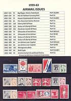 1959-63 Airmail Year Sets Full Years of 16 Issues Stamps MNH OG