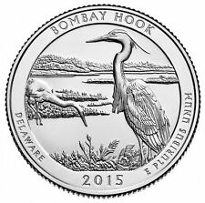 2015 America The Beautiful Bombay Hook 5 oz Silver Coin