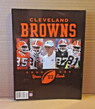 CLEVELAND BROWNS football book 2003 media guide Dennis Northcutt & Tim Couch