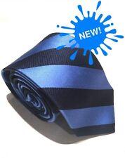"Mens Express Neck Tie Slim Skinny Blue Black 100% Silk  2.75"""