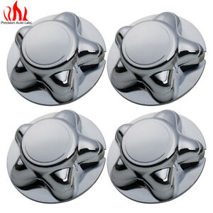 "Set of 4 For FORD F150 Expedition 16"" CHROME Hub Center Cap 5 Slot Rim Nut Wheel"