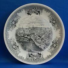"""Villeroy & Boch Luxembourg en 1835 Black & White Transfer Plate 10 1/4"""""""