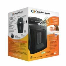 NEW Comfort Zone Black 800 Watt Home Office RV Small Electric Fan Space Heater
