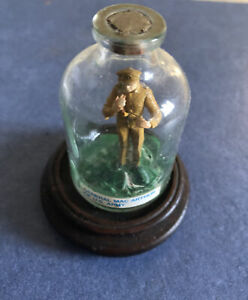 Vintage Miniature Whimsey Bottle, Circa 1975 General Mac Arthur Of US Army
