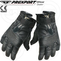 GUANTI CUSTOM GLOVES MOTO CAFE RACE SCOOTER TOURING WATERPROOF NERO/ANTRACITE