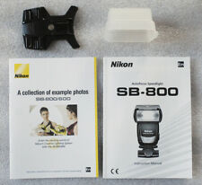 Nikon Sb-800 manual diffuser speedlight stand instruction booklet No Flash
