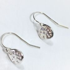Antoinette 925 Sterling Silver Tiny Hammered Nugget Charm Earrings, AF Sundance