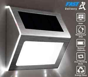 Super Bright LED Solar Powered Wall Lights Door Fence Outdoor Garden Lighting UK
