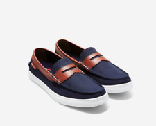 "Men's Cole Haan Pinch Penny ""Nantucket Loafer II"" Navy Blue Brown New! 