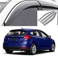 For 2015-2018 Ford Focus Hatchback Window Visor Vent Sun Shade Rain Guard Visor