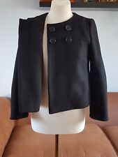 JIGSAW beautiful 100 % Wool Vintage black jacket coat size 10