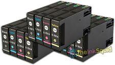 12 T701 non-oem cartouches d'encre pour epson workforce pro WP-4525DNF WP-4535DWF