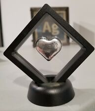1 oz .999 silver hand poured Heart Framed with stand love mother's day marriage