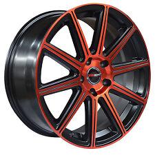 4 GWG WHEELS 22 inch Red MOD Rims fits CHEVY IMPALA 2000 - 2013