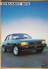 PEUGEOT 505 GR GL GTI GLD GTD TURBO-Prospectus 1984 (allemand)