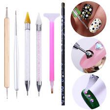 Dual-end Dotting Pen Drawing Brush Rhinestone Studs Picker Wax Pencil Nail Tool