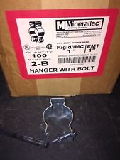 "Minerallac Conduit Hangers+Bolts 2B, 1"" *Box of 100Pcs.* New Old Stock"