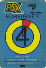 Foreigner 1982 Radio Promo Backstage Pass Carrier Dome
