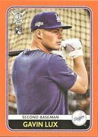 2020 Topps Big League Gavin Lux Rookie Orange Parallel #158 Los Angeles Dodgers