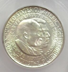 1952 WASHINGTON / CARVER SILVER 50 CENTS ICG MS 65 LISTS FOR $50!!