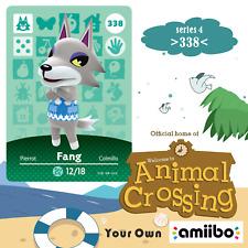 338 Animal Crossing Fang Amiibo Card Villager New Horizons