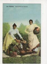 Las Palmas Costumbres De Canarias Spain Vintage Postcard 678b