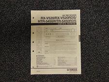 Yamaha rx-v520 rx-v520rds htr-5450 htr-5450rds Receiver Original Service Manual
