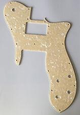 For US 72' Telecaster Custom Guitar Pickguard Wide Range , 4 Ply Cream Pearl