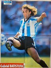 Gabriel Batistuta Genuine Hand Signed Argentina A2 Size Poster, Boca, Fiorentina