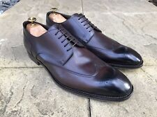 Hugo Boss T- Legender Leather Brogue Shoes Dark Brown Made In Italy UK 10