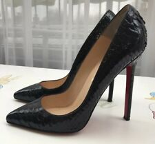Christian Louboutin black stilettos crocodile leather size 39/6