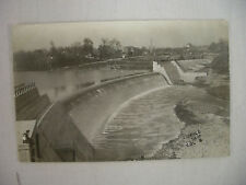 VINTAGE REAL PHOTO POSTCARD CITY WATER STORAGE DAM IN COLUMBUS OHIO 1907