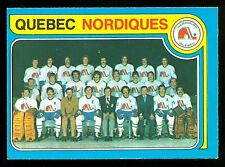 1979 80 OPC O PEE CHEE 261 QUEBEC NORDIQUES TEAM EX-NM UNMARKED CHECKLIST CARD