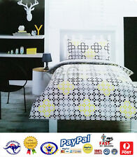 AUS QLTY Abstract Shapes Single Bed Doona/Duvet/Quilt Cover Set-Boys/Girls