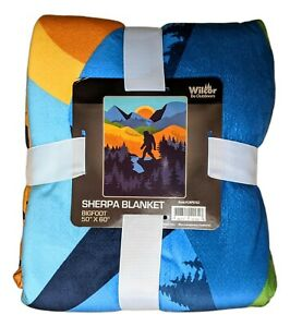 "BIGFOOT SUNSET Sasquatch Sherpa Fleece Blanket, 50"" x 60"" by Wilcor"