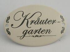 Metall Schild Kräutergarten Zum Hängen 10 5x7cm