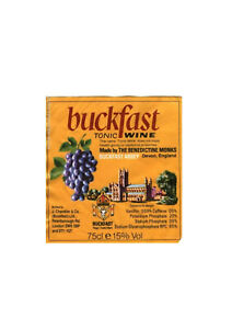 Edible Buckfast Tonic Wine Label Style Iced Icing Cake Topper