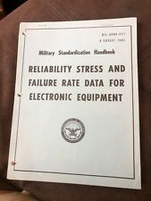 Military Standardization HB Reliability Prediction of Electronic Equipment 1962