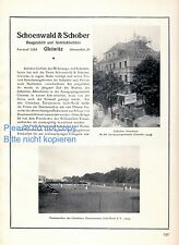 Architect Schoenwald & Schober Gliwice XL 1925 German ad construction +