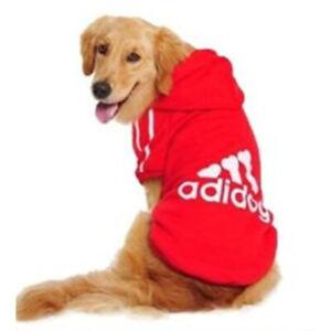 Adidog Hoodie Coat Cozy Soft Sweatshirt Sweater Jacket Clothes for Large Pet Dog