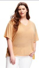 NWT Old Navy Women's Plus Size V-neck Short Sleeve Tee Top Peach Color size 2X