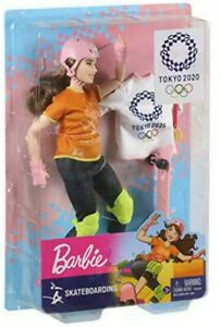✅Barbie Olympic Games Tokyo 2020 Skateboarder Doll with Uniform Ships 🚀Free
